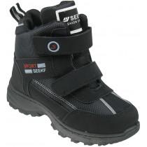 Ботинки зимние детские «Seekf» чёрные