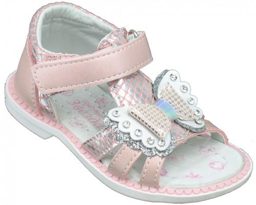 Сандалии детские для девочек «Звезда» розовые